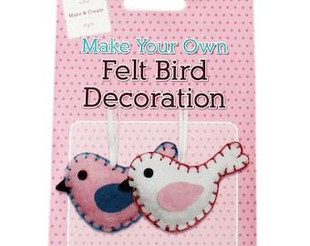 Make You Own Felt Bird Decoration