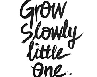 Grow Slowly Print