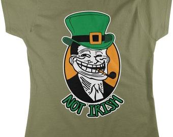 Not Irish, St. Patrick's Day, Leprechaun Women's T-shirt, NOFO_00105