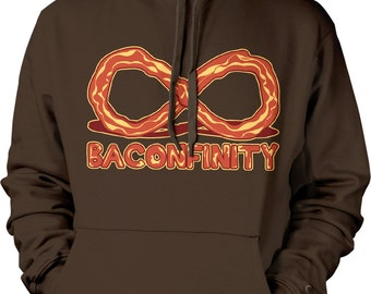 Baconfinity, I Love Bacon, Bacon Forever, Bacon Strip Hooded Sweatshirt, NOFO_00153
