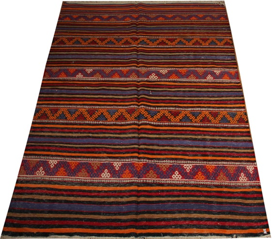 Items Similar To Bedroom Rug Blue Rug Orange Rug Chevron