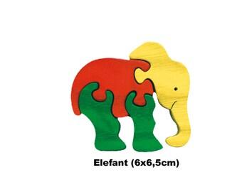 Mini Puzzle Elephant / Handmade / Animals / Wooden toys / Zoo / Africa / Waldorf / Montessori