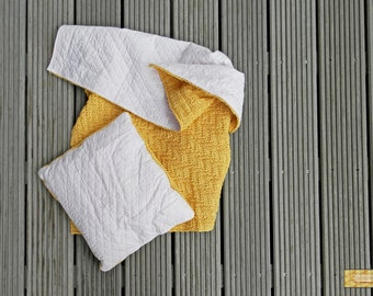 Sun Blanket & Pillow - Knit and Quilt, Cotton