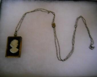 Vintage Victorian Cameo Necklace #377