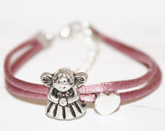 Bracelet, talisman, good luck charm, angel guardian angel children bracelet, Angel, guardian angel, gift for children