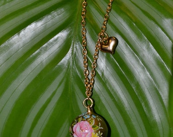Golden Bell and Heart Necklace