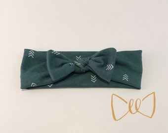 Teal Arrow Baby Headband