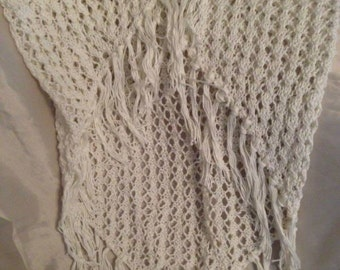 Hand knitted shawl/ wrap