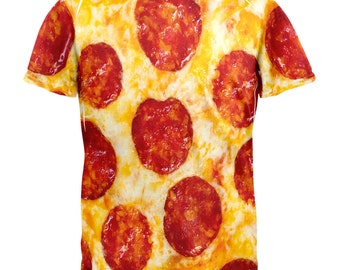 Pepperoni Pizza Costume All Over Adult T-Shirt