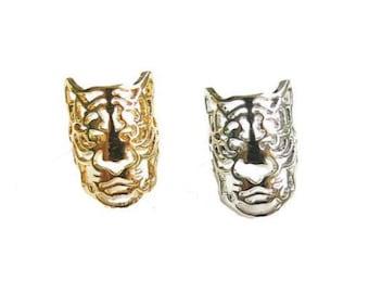 Tiger woman Silver Gold fashion ring