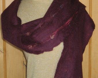Top Merino Wool Hand Felted Scarf