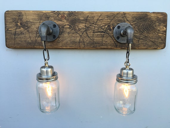 vanity light fixture 2 country style jar by youlightmeup