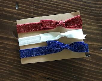 RED WHITE BLUE|| Elastic Headband Set|| baby headband|| Elastic Headband|| Elastic Bow Headband