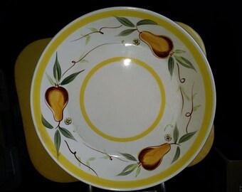 Vintage Metasco Colorstone Pear Chop Plate