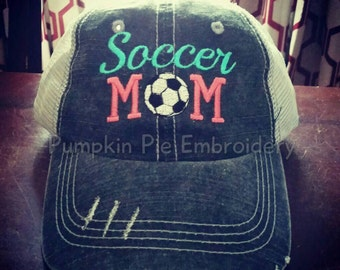 Soccer Mom Hat, Embroidered Hat, Trucker Hat