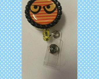 Halloween eyes black badgeholder