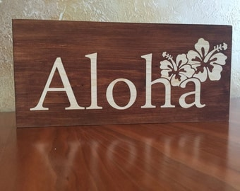 Hawaiian Aloha Wall Decor