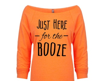 Just Here for the Booze. Funny Halloween Shirt.Just Here for the BOOze Shirt. Halloween Shirt. Women's Halloween. Just here for the boos.