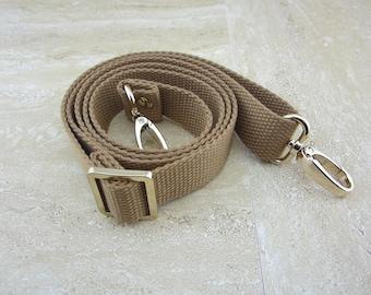 "50"" Camel Cotton Webbing Strap - Adjustable"