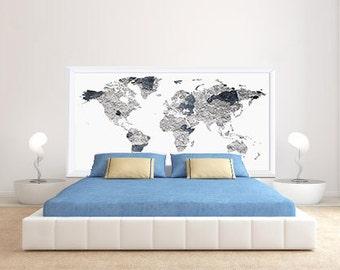 Bedhead worldmap sticker