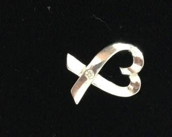 Ribbon heart (925 sterling silver)