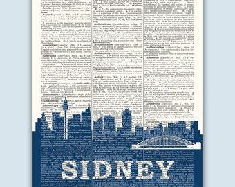 Sidney Skyline, Sidney Poster, Sidney Decor, Sidney Print, Sidney Wall Art, Sidney  Gift, Sidney Wall Decor, Sidney Australia