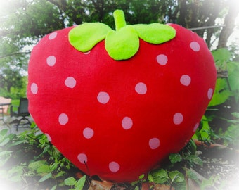 Cuddly Strawberry Pillow