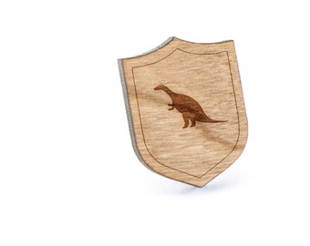 Dinosaur Whale Lapel Pin, Wooden Pin, Wooden Lapel, Gift For Him or Her, Wedding Gifts, Groomsman Gifts, and Personalized