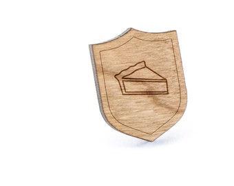 Pie Slice Lapel Pin, Wooden Pin, Wooden Lapel, Gift For Him or Her, Wedding Gifts, Groomsman Gifts, and Personalized