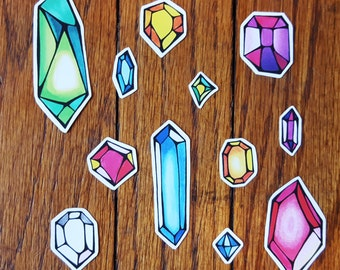 Colorful Crystals Vinyl Sticker Set