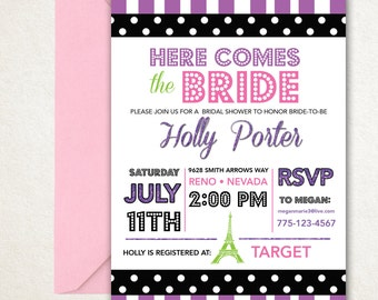 Bridesmaid Movie Bridal Shower Invite