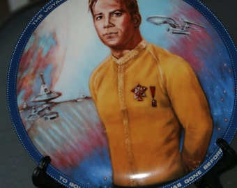 Vintage Limited Edition Star Trek Plate - Captain Kirk