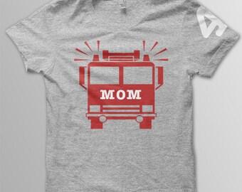 Firetruck birthday Mom shirt kids birthday shirt
