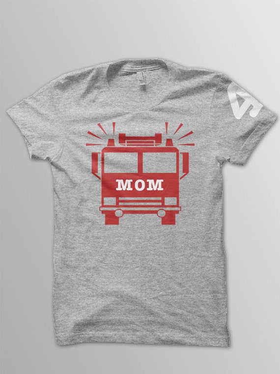 Firetruck birthday Mom shirt kids birthday shirt