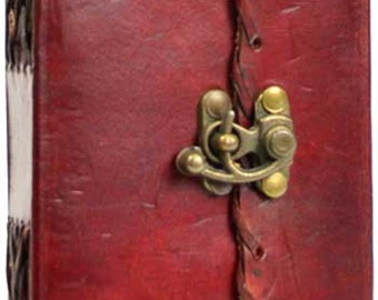 Poetry leather blank book w/ latch