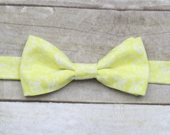 Yellow and White Bowtie
