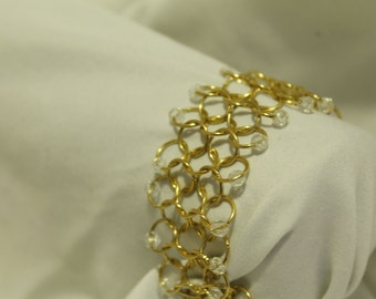 Gold Chainmail Bracelet
