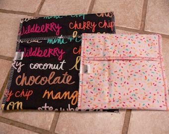 Ziploc bag reusable-pattern big name candy-bag waterproof-washable-environmental-respectful of the environment-eco-reusable-s
