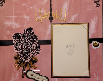"""Premade 12x12 """"Bride-To-Be"""" Scrapbook Page"""