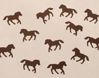 200 Brown Horse Confetti Brown Pony Confetti Horse Party Pony Party Birthday Girl Confetti Birthday Confetti Horse Confetti Pony Birthday