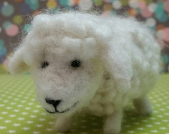 Needle Felted Sheep. Cute Sheep. Soft and Fluffy Sheep.