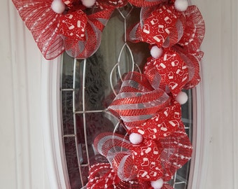 Christmas deco mesh candy cane wreath