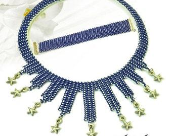 handmade glass bead neclace & bracelet set