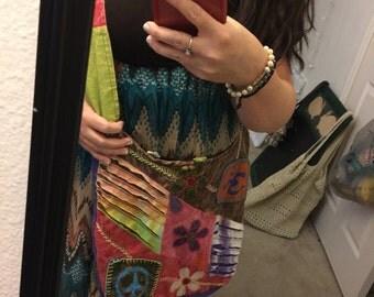 Hobo hippie purse sling shoulder bag by Neeko Peace Love & buddhism 1.99 SHIPPING!