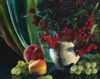 Acrylic Fruit Still Life Painting