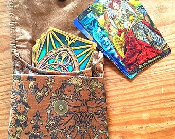 Gold Brocade Tarot bag-Tarot wallet