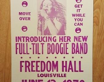 Janis Joplin concert poster