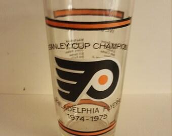 74-75 Philadelphia Flyers Stanley  Cup  Championsugar Glass