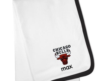 Personalized Chicago Bulls Baby Blanket