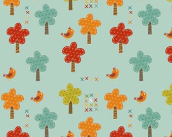 "Riley Blake Designs   ""Giraffe Crossing""   Teal Trees  100% Cotton"